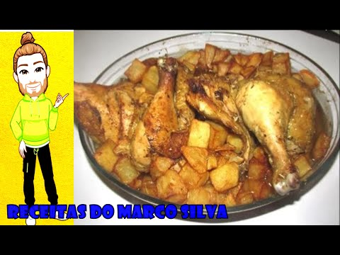 Image result for frango com batatas no forno