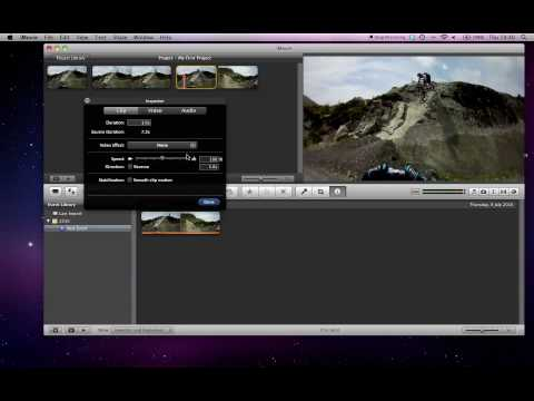How To Do Slow Motion In IMovie '09