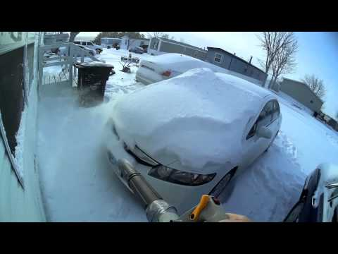 fast snow removal with my leaf blower