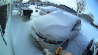 Repeat youtube video fast snow removal with my leaf blower