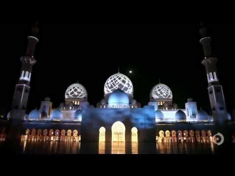 Sheikh Zayed Grand Mosque Projections, Abu Dhabi. UAE