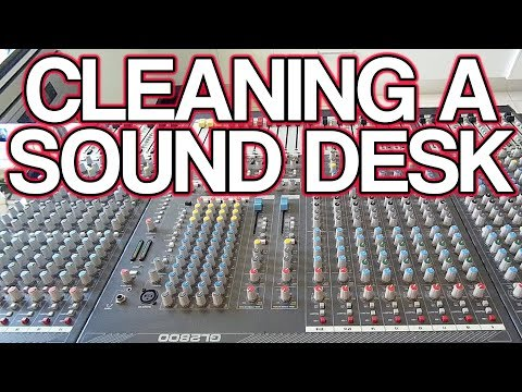 Tutorial: How to Clean An Audio Mixer