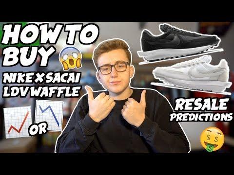 nike sacai waffle resell price