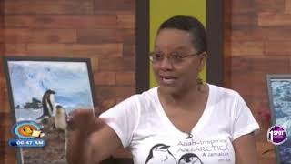 Judith Falloon-Reid  Antarctica interview on Smile Jamaica
