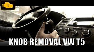 VW T5 Gear Shift Knob , Boot Replacement - Gaitor Cover VW T5 Demontaż gałki i mieszka