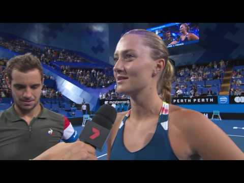 Richard Gasquet and Kristina Mladenovic on-court interview - Mastercard Hopman Cup 2017
