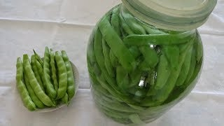 Засолка стручков фасоли, спаржи. Удобный способ. Стручковая зеленая фасоль на зиму без стерилизации.