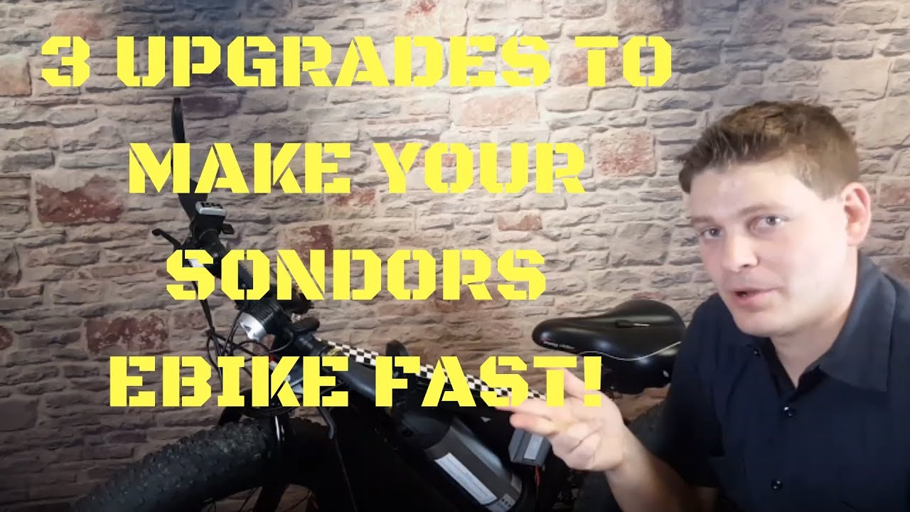 3 Upgrades to make your Sondors Ebike FAST! Step by Step Tutorial