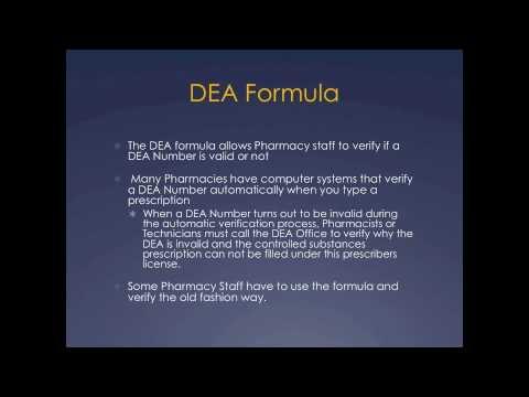 Pharmacy Technician Math Review: DEA Number Formula - YouTube