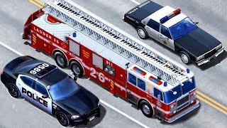Kids Vehicles Emergency - Police Car, Fire Truck, Tow Truck | Construction Vehicles App for Children