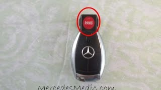 mercedes key fob battery change replacement chrome key by mercedesmedic com round panic