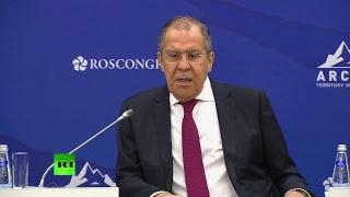 Лавров выступает на Международном арктическом форуме