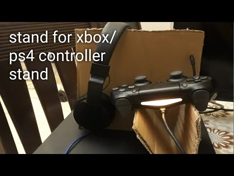 How to make cardboard controller stand for xbox/ps4 controller.