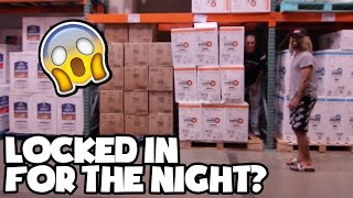 LOCKED IN COSTCO ( TOILET PAPER FORT GONE WRONG )