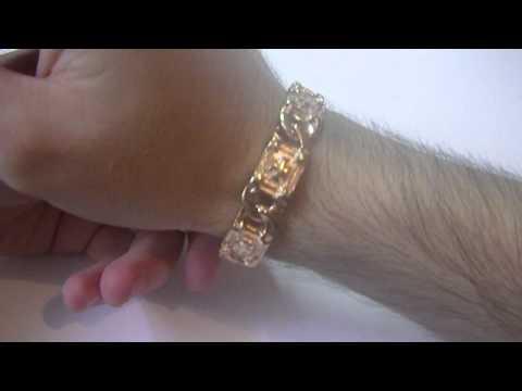 alfaw.ru - Видеопрезентация браслета покрытого золотом 585
