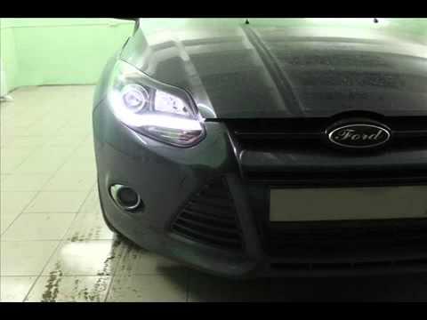 Тюнинг Ford Focus 3 Установка передней альтернативной оптики смотреть онлайн
