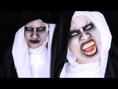 THE NUN Halloween Makeup Tutorial