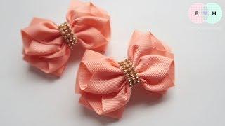 Laço De Fita 🎀 Ribbon Bow Tutorial #26 🎀 DIY by Elysia Handmade