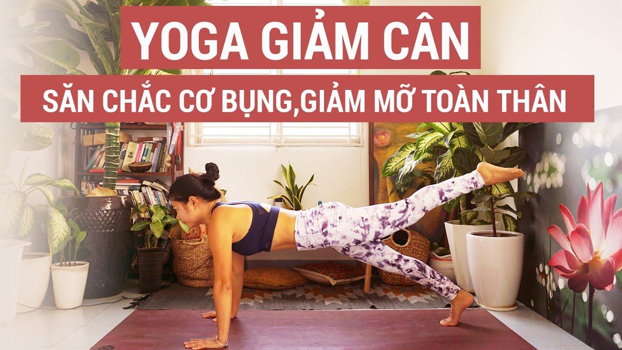 Yoga GIẢM CÂN, Săn chắc cơ bụng & Giảm mỡ toàn thân |Yogi Travel