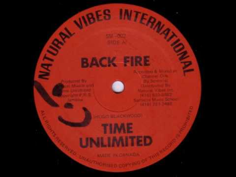 """Time Unlimited - Back Fire + Dub - 12"""" Natural Vibes Intl - MASSIV ONE AWAY ROOTS REGGAE"""