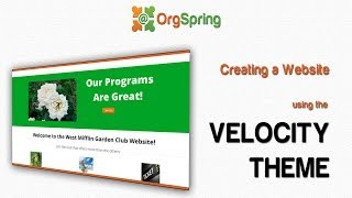 Create a Nonprofit Website with OrgSpring and the Velocity Theme