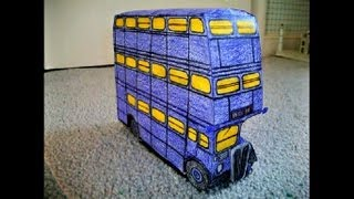 Paper Model of the Knight Bus from Harry Potter and the Prisoner of Azkaban