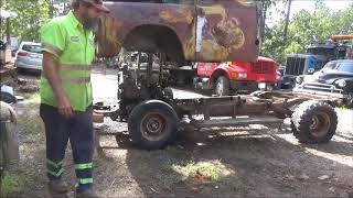 1956 DODGE CAB SWAP MOTOR HOME FRAME BIG BLOCK 440