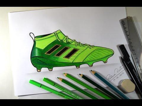 Como Desenhar Chuteira Adidas Ace 17 Passo A Passo Youtube