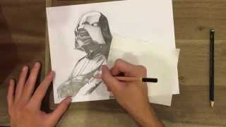 Darth Vader Speed Drawing