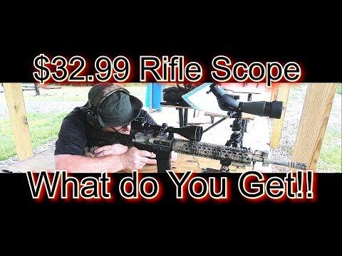 Cheap Beginner Rifle Scope  OTW 39 Power