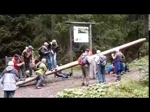 Old People Fall Off Giant SeeSaw YouTube