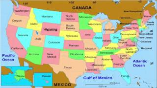 50 States  and Capitals  of the United States for Kids | Learn the geographic regions of the USA