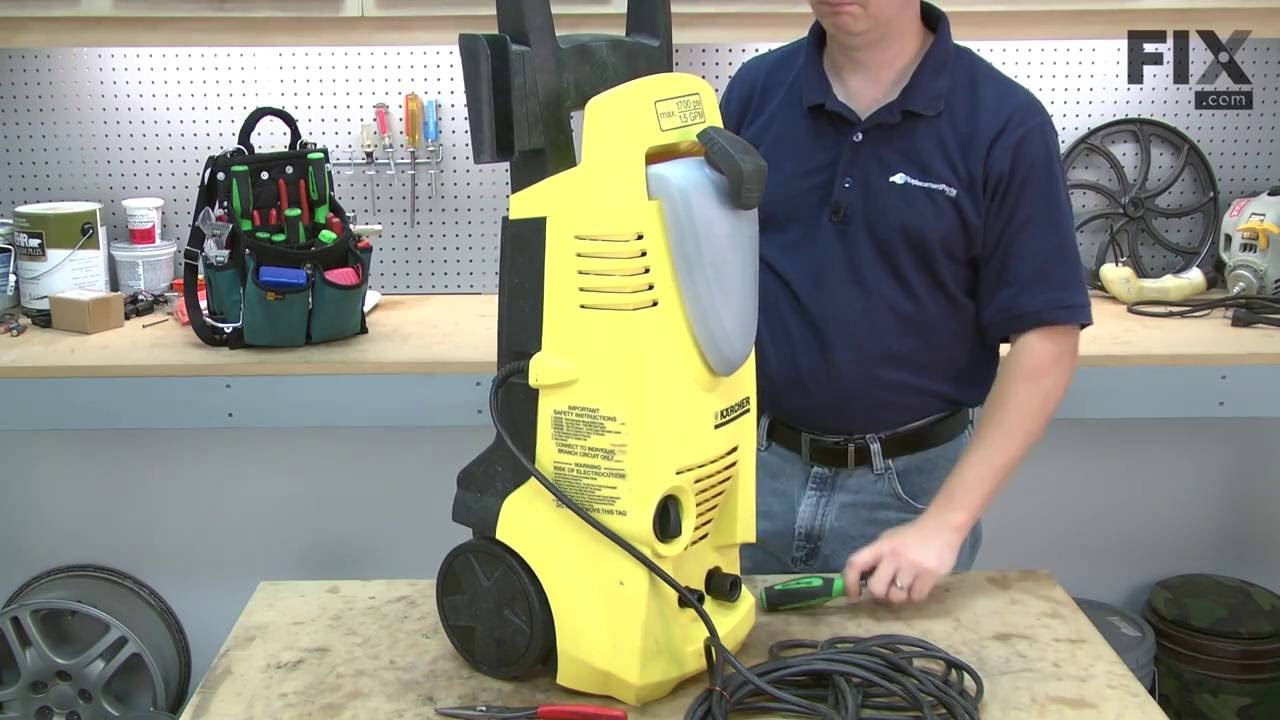 karcher pressure washer parts karcher pressure washer repair how to replace the outlet 10306