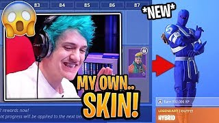 "Ninja Reacts to FINALLY Getting His ""NINJA"" Skin & Season 8 Battle Pass! - Fortnite Moments"