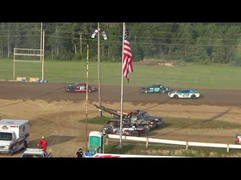 Street Stock Heat Race #2 at Crystal Motor Speedway, Michigan on 07-22-2017.