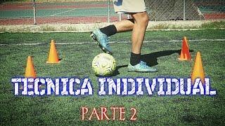 Ejercicios para mejorar la técnica individual y de regate en el futbol-Parte 2