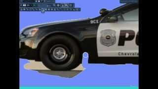 Phun destroyable police car speed build