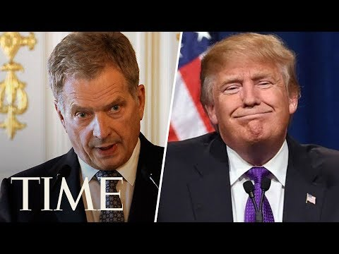 Press Conference With President Donald Trump And Finnish President Sauli Niinistö | TIME