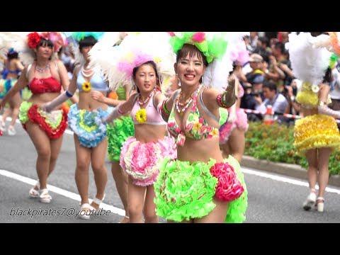 みんなかわいい☆彡2019神戸まつり 神戸サンバチームの華麗なるパレード♪ SAMBA CARNIVAL (サンバカーニバル)