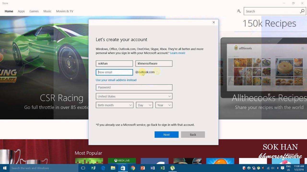 how to delete microsoft account 2016