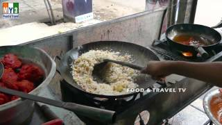 EGG FRIED RICE - CHINESE FAST FOOD IN INDIAN STREET  - 4K VIDEO - INDIAN STREET FOOD