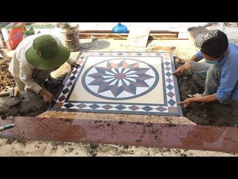 Techniques Construction Design Porch // Granite Edge Machining Technology / / Brick Tiles For Porch