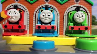 Thomas and Friends Toy Trains, Disney Cars Toys Lightning McQueen in  Tayo the Little Bus Garage