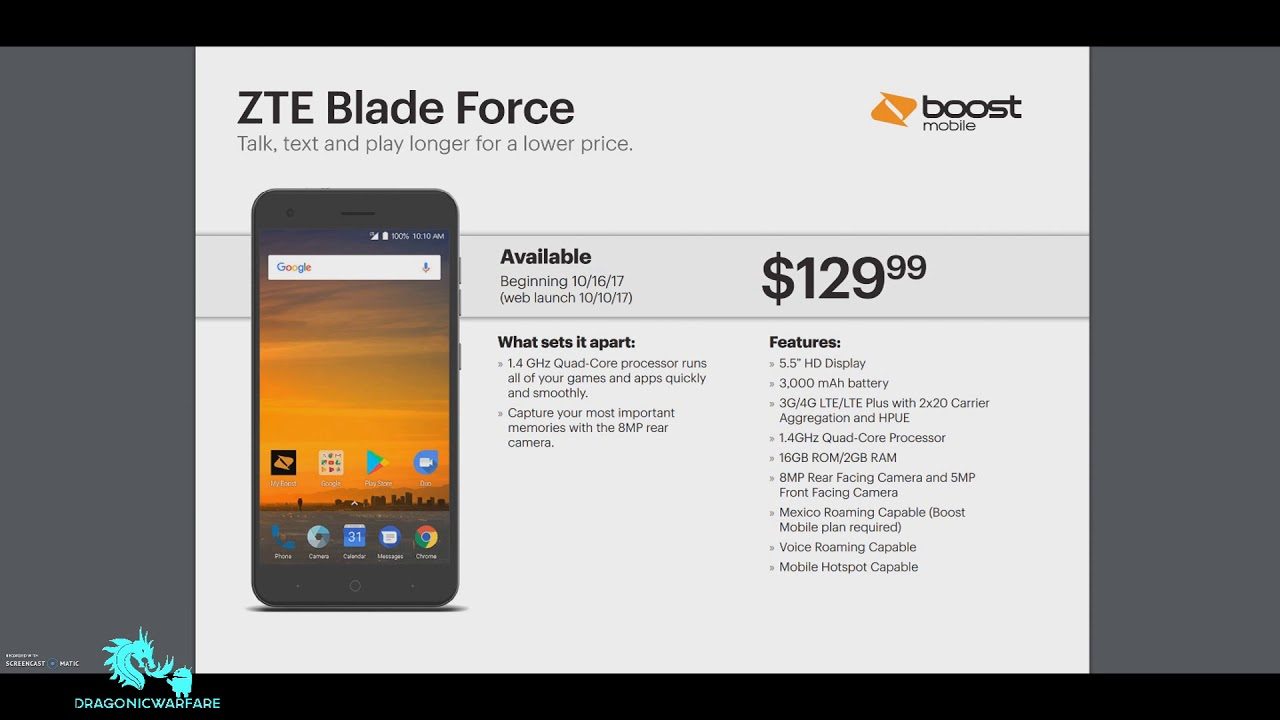 New Phone Zte Blade Force Boost Mobile (HD)