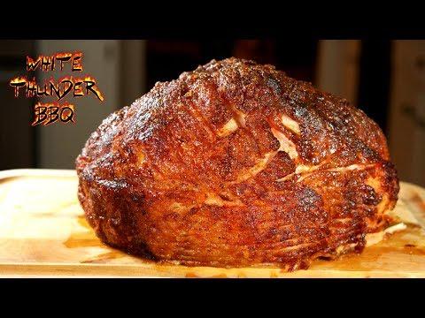 Honey Smoked Ham On The Kamado Joe