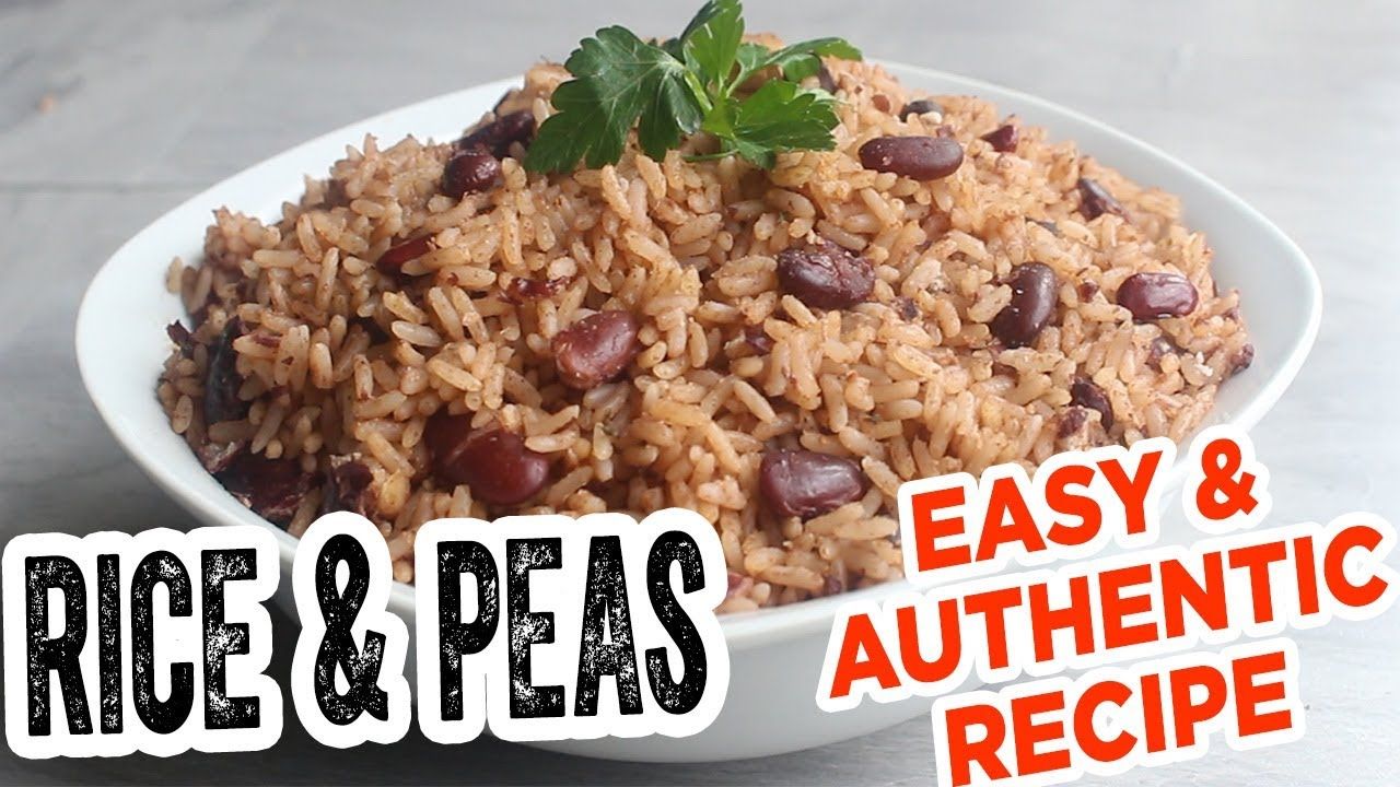 jamaican rice  peas  most delicious easy  authentic