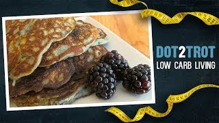 Fluffy Low Carb Blackberry Pancakes