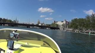 Eurocraft boat on Lake Zurich with Yamaha F70