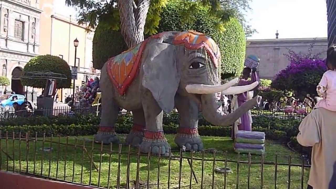Elefante del nacimiento en jard n zenea queretaro youtube for Jardin zenea queretaro