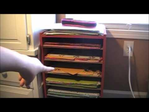Crafty Creations Episode 8 handmade paper organizer